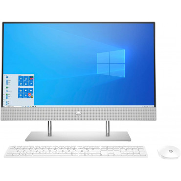 HP 23.8-inch FHD All in One Desktop with Alexa Built-in(10th Gen Intel Core i3-1005G1/8GB/512 GB SSD/Windows 10/ MS Office 2019/Natural Silver), 24-dp0817in