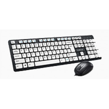 Circle C43 Multimedia Keyboard and Mouse Combo (Black and White)