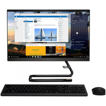 Lenovo IdeaCentre AIO 3 21.5-inch Full HD IPS All-in-One Desktop (10th Gen Intel Core i3-10100T/8GB/1TB HDD/Windows10/Integrated Graphics/HD 720p Camera/Wireless Keyboard & Mouse), Black (F0EV008GIN)