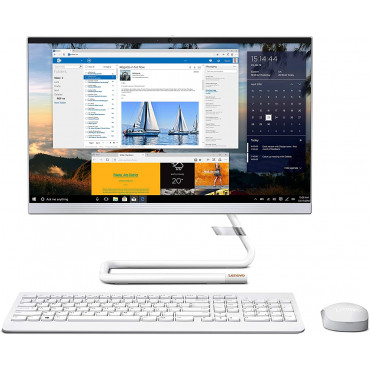 Lenovo Ideacentre A340 21.5-inch FHD IPS All-in-One Desktop (10th Gen Intel Core i3/8GB/1TB HDD/Windows10/Office 2019/with Slim DVD±RW/HD 720p Camera/Wireless Keyboard & Mouse), Foggy White F0EB00CRIN
