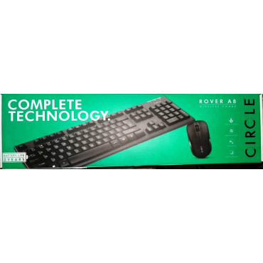 Circle ROVER A8 Wireless Combo Keyboard & Mouse Set Deskset