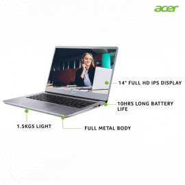 Acer Swift 3 SF314-41 14-inch Laptop (AMD Athlon 300U Dual-core processor/4GB/1TB HDD/Window 10 Home 64Bit/Integrated Graphics), Silver