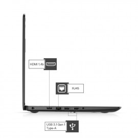 Dell Vostro 3405 14inch HD AG Laptop (Ryzen-3 3250U / 4 GB / 1TB / Vega Graphics / 1 Yr NBD / Win 10 + MS Office H&S 2019) Black